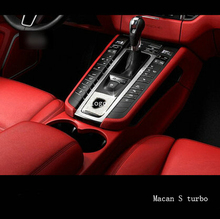 Interior decoration stalls in the control of high-quality patch for Porsche macan S turbo cayenne Panamera S car-styling auto