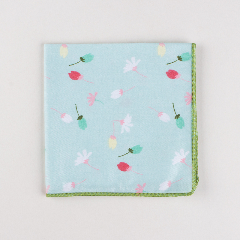 Mantieqingway Brand Vintage Handkerchief Mens Floral Printed Pocket Square For Wedding Male Ladies Cotton Hankies Pocket Towel