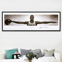 SELFLESSLY Wall Art Canvas Pictures For Living Room Home Decor michael jordan wings autographed poster print