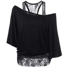 Camisetas de verão femininas, plus size, 5xl, soltas, gola canoa, manga curta, renda, patchwork, tops básicos