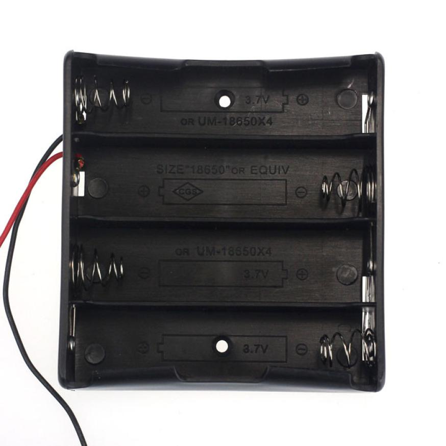 цена на HL 1pcs 18650 Power Battery Storage Case Box Holder Leads With 4 Slots May 21E22#3