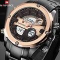 Naviforce reloj de lujo marca de relojes de los hombres militar impermeable reloj deportivo de cuarzo led reloj digital de los hombres reloj de pulsera caja de origen