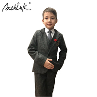 2016 Brand New 3PCS Boys Solid Wedding Suit With Belt England Style Gentle Boys Formal Suit