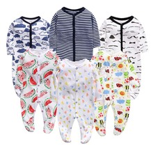 Infant Cartoon Bear Baby Clothes 2019 Girl&Boys Long Sleeve  Baby Rompers Babygrow Sleepsuits Baby Romper 0-12 Months r baby little boys pack of 2 velour sleepsuits with feet