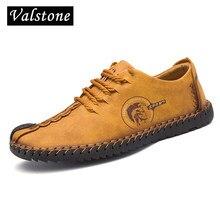 2d307c81c Valstone handmade sapatos de couro Homens casuais 2018 Outono sneakers  huarache mocassim macio quente da venda