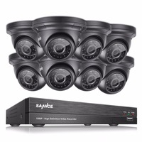 SANNCE 8CH Full HD 1080P DVR CCTV Camera System 8pcs 2MP Waterproof Dome Security Cameras P2p