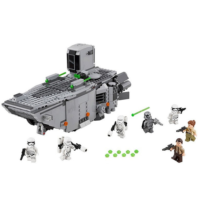 845Pcs Star Wars First Order Transporter Model Building Block Toys Compatible Legoings 75103 Figure Gift For Children