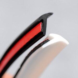 Image 5 - Auto Deur Rubber Afdichting Strip Schuine T Type Auto Afdichting Geluidsisolatie Tochtstrip Rand Sealant Voor Voorbumper