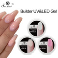 Saviland 1pcs Pink Crystal Clear White UV Builder Gel Transparent Extension UV Gel Polish Soak Off Nail Manicure