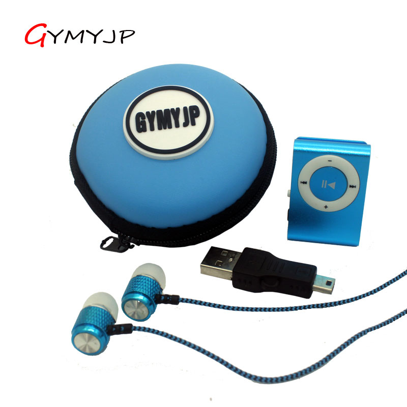 New Mini Portable Metal <font><b>clip</b></font> music MP3 Player Support Micro SD Card TF with earphone cable bag