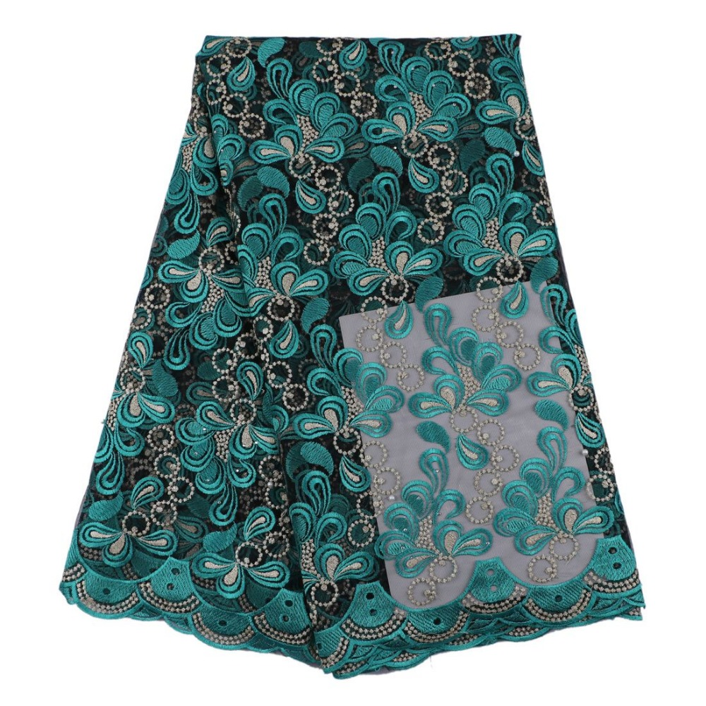 teal green embroidered french lace fabric price cheap quality good JLteal green embroidered french lace fabric price cheap quality good JL