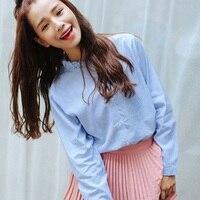 Real Shot Chic Cute Wooden Ear Collar Casual Shirt Shirt Woman 260
