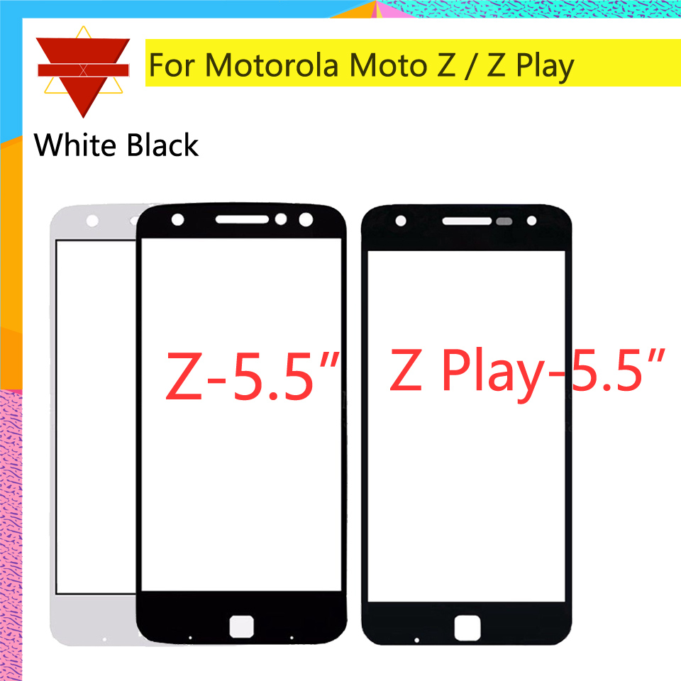 10pcs\lot For Motorola Moto Z Droid XT1650 / Z Play Droid <font><b>XT1635</b></font> Touch <font><b>Screen</b></font> Front Outer Glass Panel Lens NO LCD Digitizer image