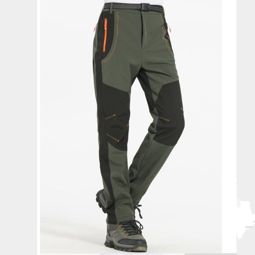 S M L XL XXL 3XL 4XL Plus Size Men Winter Pants Casual Fashion Pants Fleece Trousers Color Army Green/Gray /Orange/Wine Red