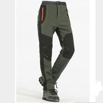 цена на S M L XL XXL 3XL 4XL Plus Size Men Winter Pants Casual Fashion Pants Fleece Trousers Color Army Green/Gray /Orange/Wine Red