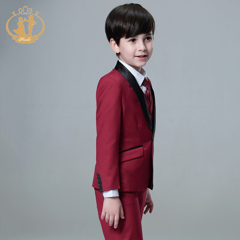5pcs/Set Boys Suits For Weddings Kids Prom Suits Wedding Suits Kids ...