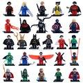 Sola Venta Marvel Super Heroes Avengers Batman Deadpool Figuras Iron Man Bloques huecos de Ladrillos Juguetes para Niños
