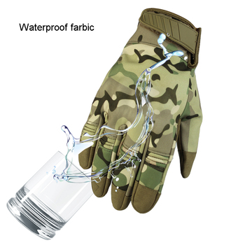 Waterproof Touch Screen Men's Gloves,Military Tactical Gloves,Full Finger Bicycle Gloves,Outdoor Sport Glove For Hunting Cycling 2