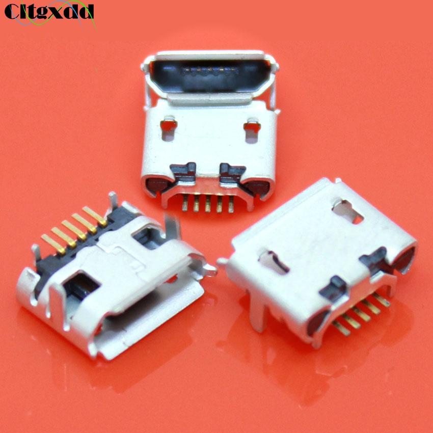 10pc Micro USB Type B Female 5Pin DIP Socket Jack Connector Port Charging KHAAZD