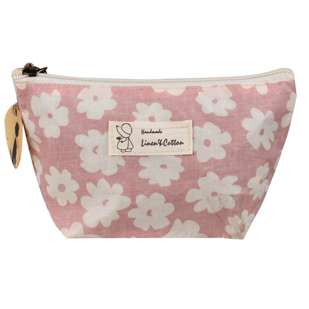 Cosmetic Bags Women Kawaii Flower Zipper Makeup Bag Cosmetic Pouch Beauty Women Bags For Makeup Organizer Neceser Maquillaje #12