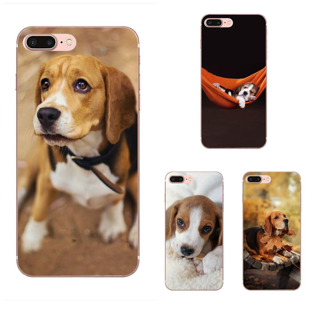 Beagle <font><b>Dog</b></font> Puppies For <font><b>Galaxy</b></font> <font><b>A3</b></font> A5 A7 On5 On7 2015 2016 <font><b>2017</b></font> Grand Alpha G850 Core2 Prime S2 I9082 Soft Capa Coque image