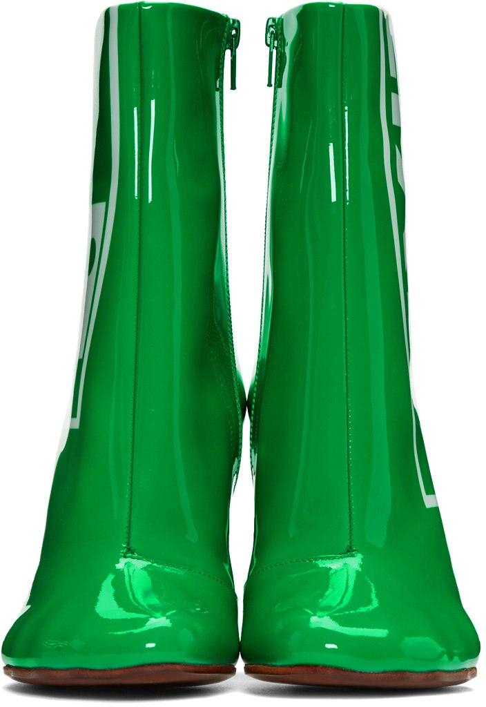 Mujer Tacones Lujo Cuero Zapatos Ronda Altos Stiletto De Encendedor Gris Verde Tobillo Nueva Marca Salida Botas Toe 2018 XqYwgtzg