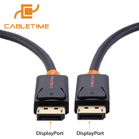 Cabletime DisplayPort Cable Male To Male 4k 60hz DisplayPort Adapter Cord 1 2 Audio 2M 3M