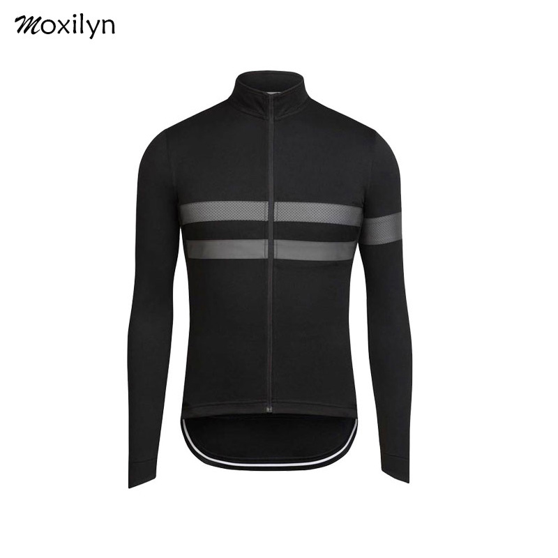 Pro Team High Quaility Cycling Jersey Top Winter Thermal Fleece Long Sleeve Racing Cycling Clothing Outdoor Sport Classic Stripe