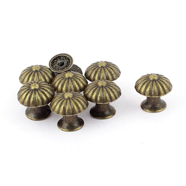 8PCS Miniature Vintage door Knobs Drawer Pulls 18*17MM Small Drawer ...