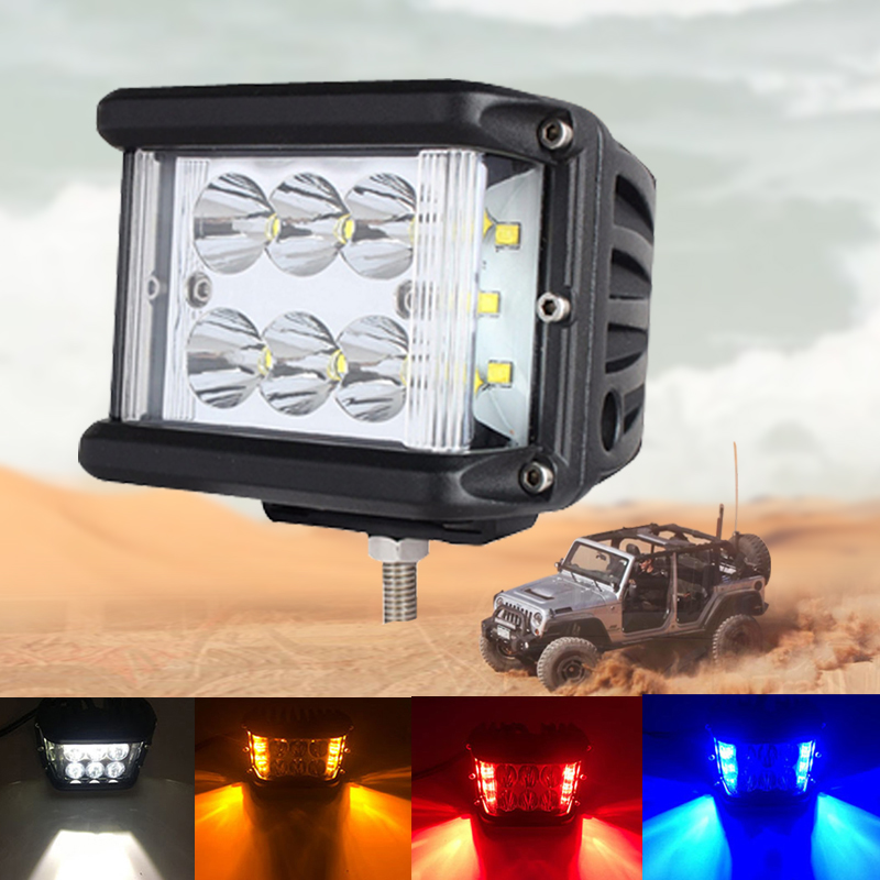 4 pouces 60 W Led conduite lumière côté tireur 12 V 24 V tout-terrain Cubes Pods bleu ambre rouge DRL pour 4WD 4x4 ATV UTV SUV Jeep camion