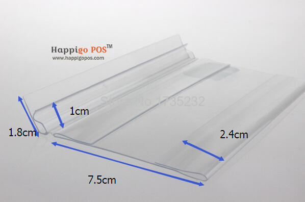shelf talker clear pvc price tag label display holder clip label frame buckle on shelf label