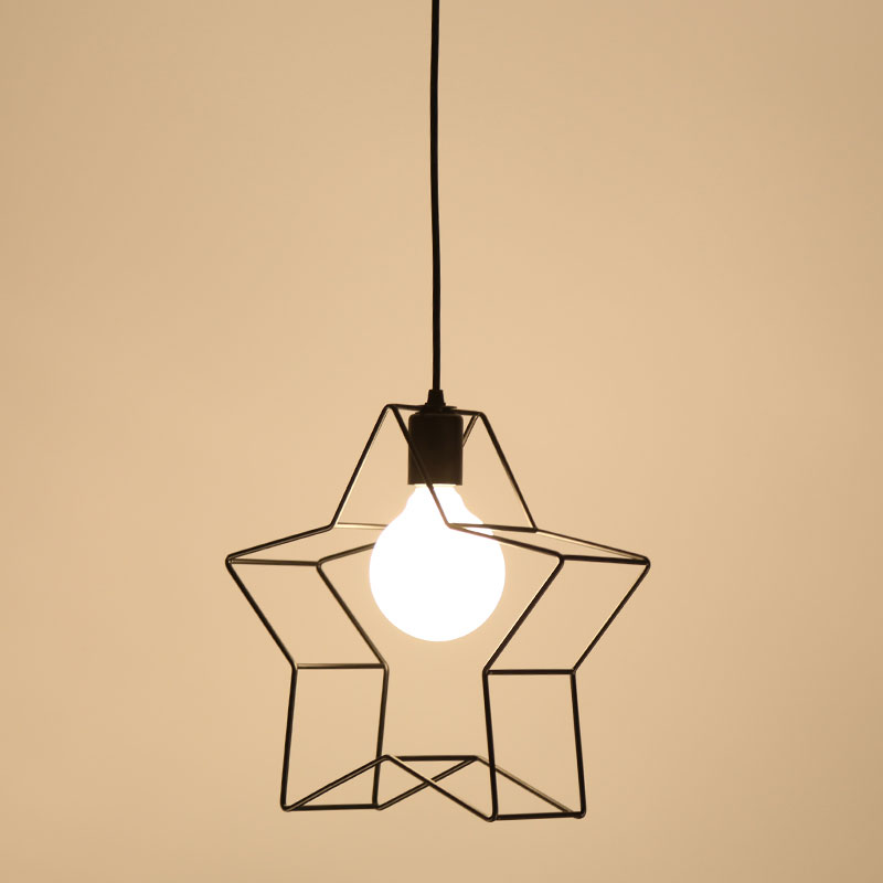 Modern Iron Pendant Light Star Style Light Fixtures Kitchen Dining Room Lamp Indoor Lighting BLP062