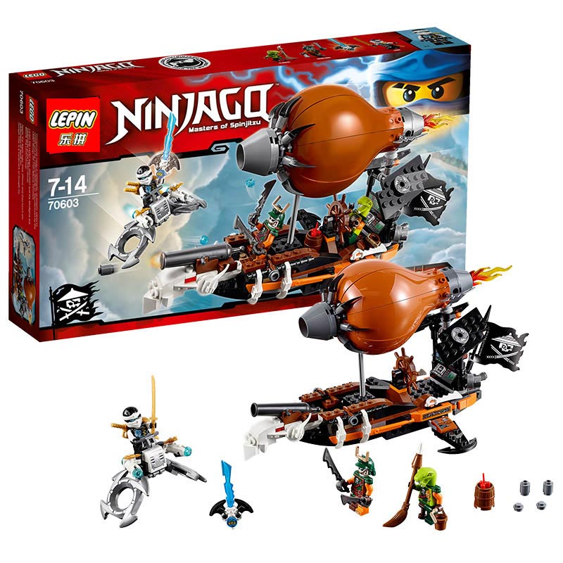 Lepin Building Blocks 06029 Model Ninja Raid Zeppelin 70603 BELA Compatible Bricks Figure  Toys For Children 316 PCS lepin 06037 compatible lepin ninjagoes minifigures the lighthouse siege 70594 building bricks ninja figure toys for children