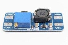 Бесплатная доставка 100 шт. повышающая пластина MT3608 2A модуль постоянного тока 2 24 в вверх 5/9/12/28 в Регулируемый