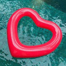 Heart Shape Inflatable Swimming Ring Pool Float Giant Mattress For Water Fun Toy(China)