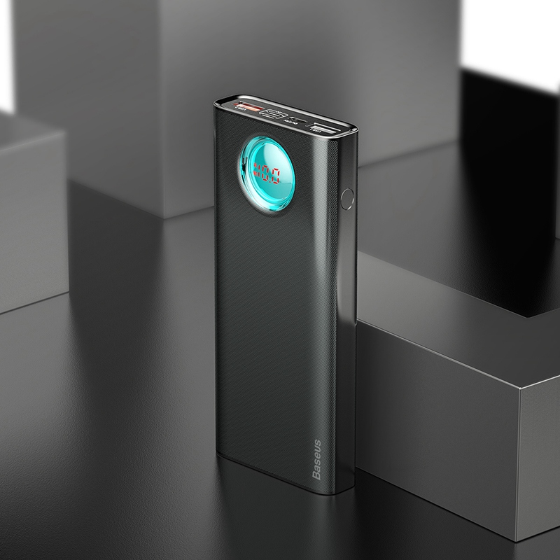 Baseus 20000 мАч Внешний аккумулятор для iPhone samsung huawei type C PD Быстрая зарядка+ быстрая зарядка 3,0 USB внешний аккумулятор - Цвет: Black Power Bank