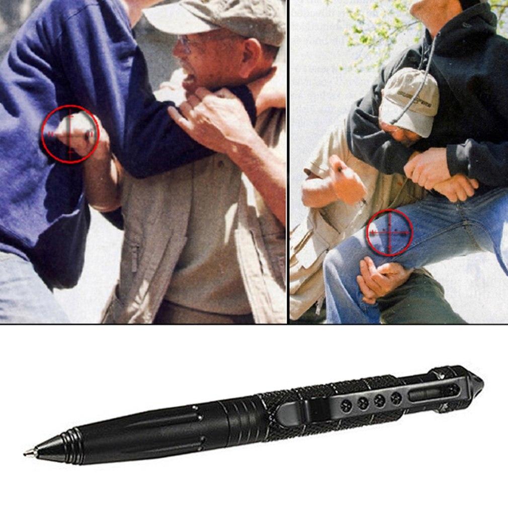 Outdoor Survival Tactical Pen Glass Breaker Self Defense Camping Tools