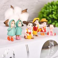 5PCS/Set Fairy Garden Miniatures Mini Cute Resin Craft Hayao Miyazaki Cartoon Figurines For Home Wedding Bonsai Terrarium