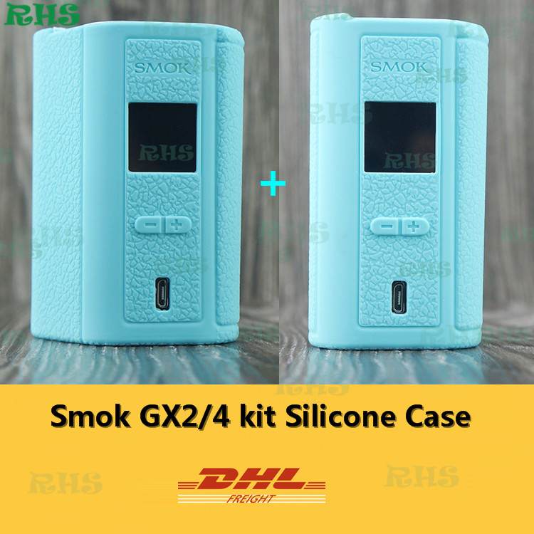 50pcs Free DHL 2017RHS New Launched Silicone Case Cover for Smok GX 2/4 KIT Box Mod ecig GX2/4 13 colors wholesale factory price