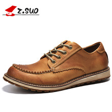 Z. Suo men's boots, men's low to help  boots, casual fashion stitching really boots. botas hombre zs16012