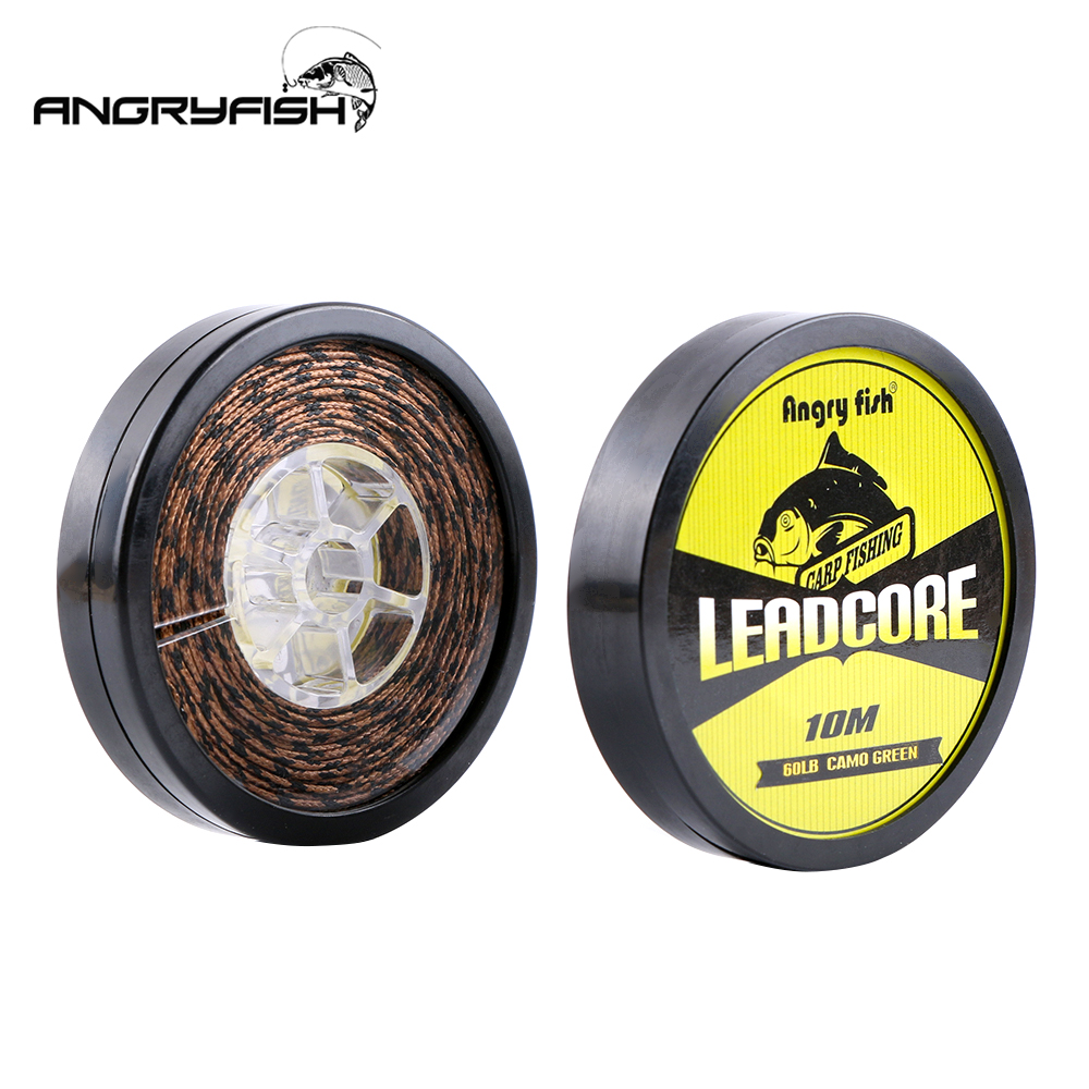 Angryfish Lead Core Carp Fishing Line 25Lbs 35Lbs 45Lbs 60Lbs 10Meters for Carp Rig Making Sinking Braided Line|carp fishing line|fishing line|lead core - title=