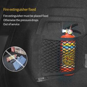 Image 5 - Malha tronco organizador de armazenamento do carro saco 40/50/60/80*25cm malha para tronco bagagem titular bolso adesivo náilon organizador automático no tronco