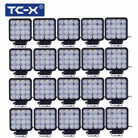 Ship From Moscow 20 Pcs Box Wholesale Super Power 48W LED Work Lights Off Road 4wd