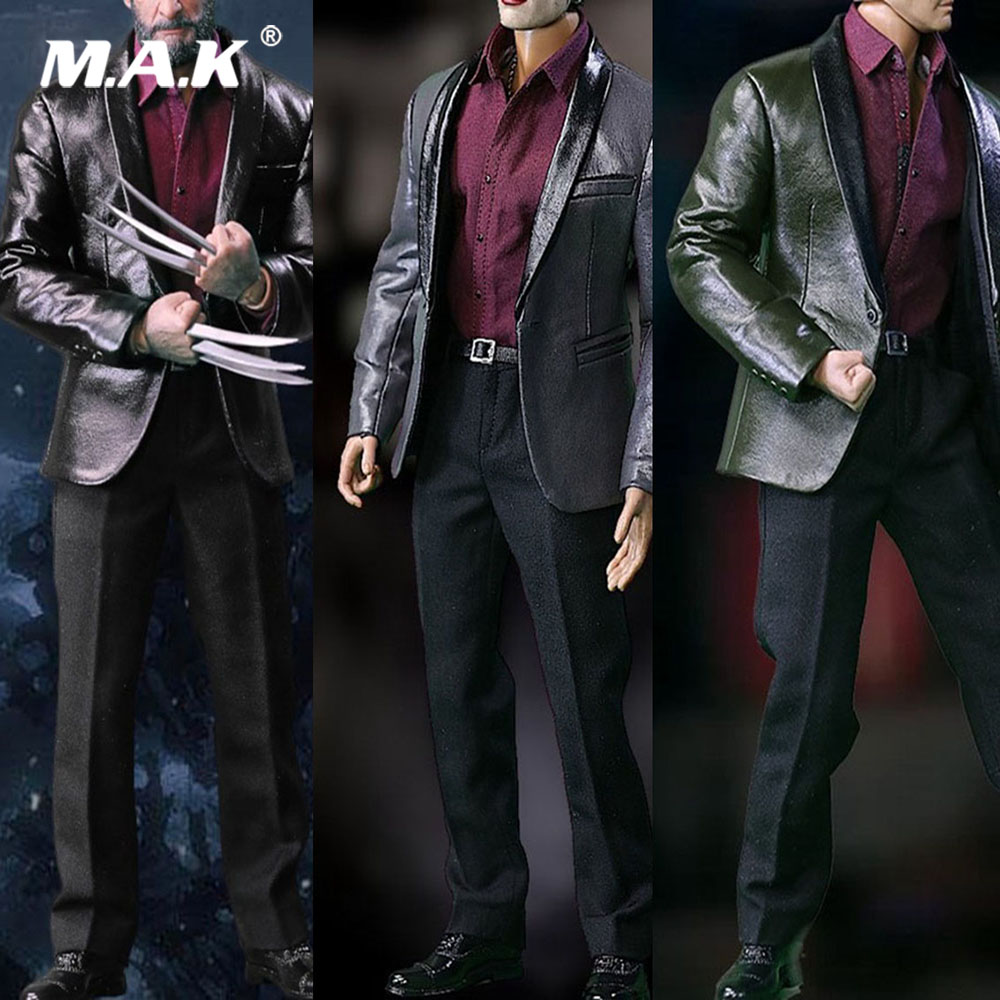 S02 1/6 Scale Male Figure Clothes Accessory Set Men's Fashion Leather Suit Clothes Set for PH/COOMODEL Action Figure Body 1 6 scale male figure accessory clothes johnny english suit for 12 action figure doll not include head and body 16b2853