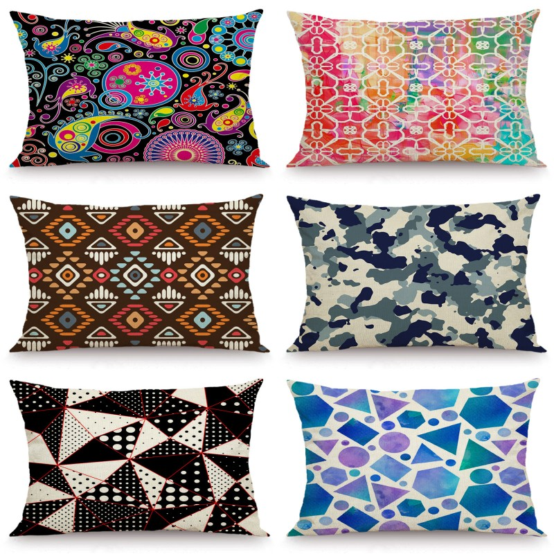 XUNYU 30X50cm/40x60cm Cushion Cover Cartoon Geometric Pillow Cases Decorative Throw Pillow Cover For Sofa Bedroom JX036