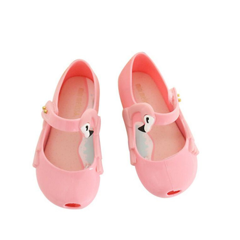 Mini Melissa 2018 Summer Children Sandals Fragrance Melissa Girls Princess Candy Color Flat Shoes Toddler Kids Non-slip Sandal