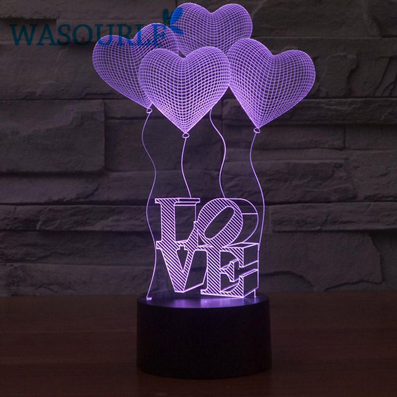 3D acrylic night light lamp charging <font><b>luna</b></font> light best christmas birthday gift round light free shipping image