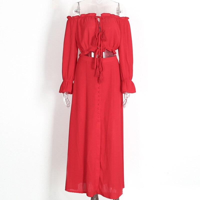 Ahmagen 2 Piece Dress Womens Summer Maxi Dresses New Arrival Ladies Boho Dress Off Shoulder Sexy Slip Beach Long Maxi Dress