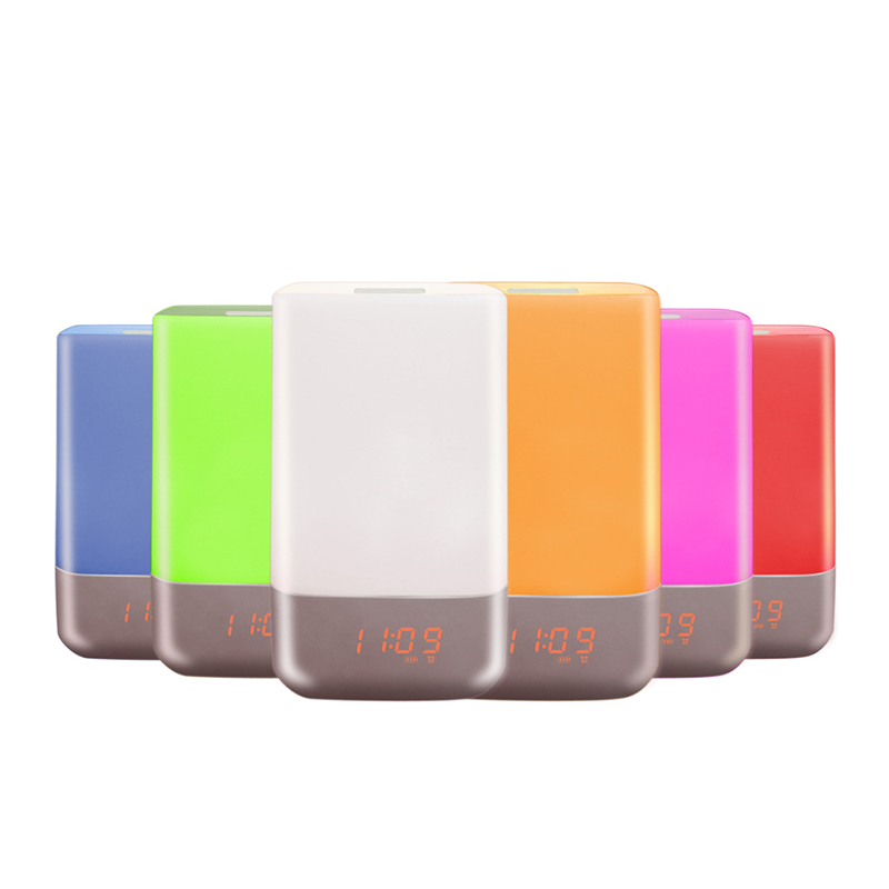 Sunrise Alarm Clock Multifunctional 7 Colors Changing Wake Up Light
