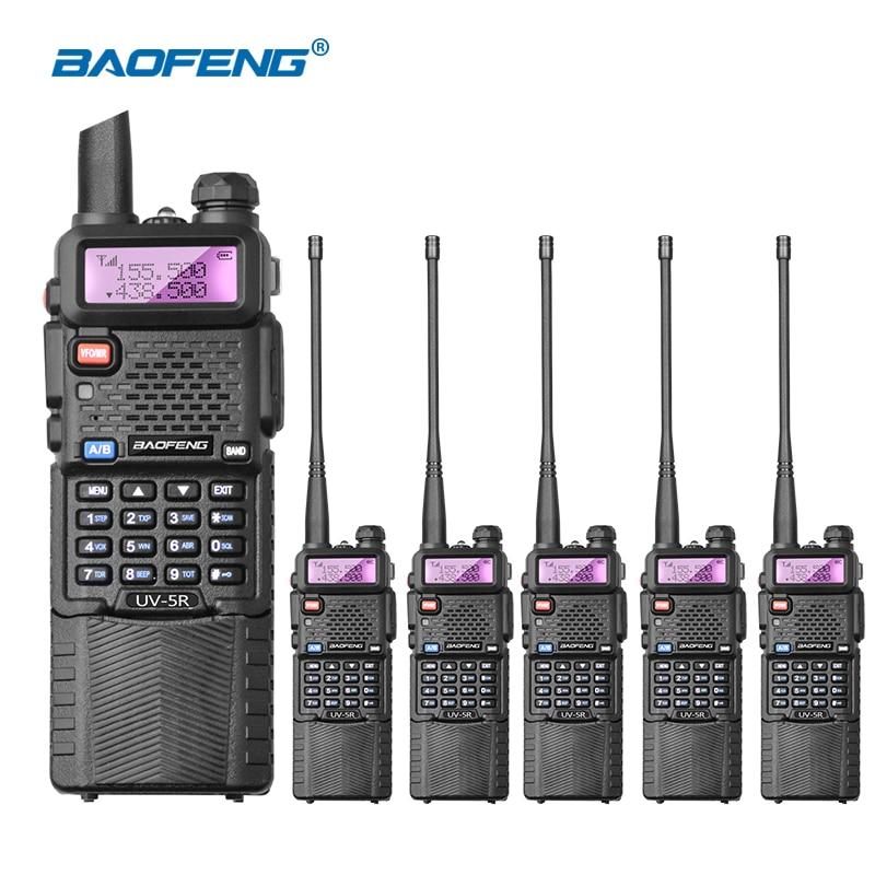 6pcs lot BAOFENG UV 5R Walkie Talkie UHF VHF 136 174 400 520 Mhz Dual Band